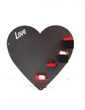 cuore - lavagna magnetica con incisione